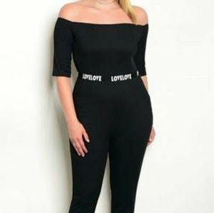 Black Plus Size Jumpsuit